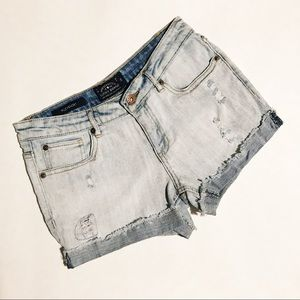 Lucky Brand Distressed Riley Jean Shorts Cut Offs